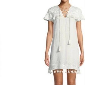 Red Carter Marina Embroidered Coverup Swim Dress